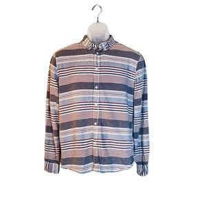H&M Business Casual Striped Button Down Shirt